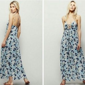 Free People Mulberry Floral Maxi Dress